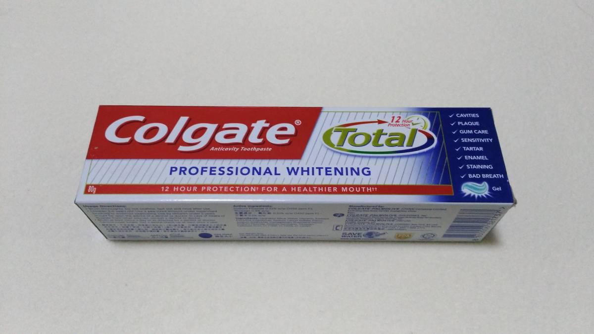 歯のホワイトニングに!コルゲート プロフェッショナルホワイトニング 80g 日本未発売《新品・未使用》