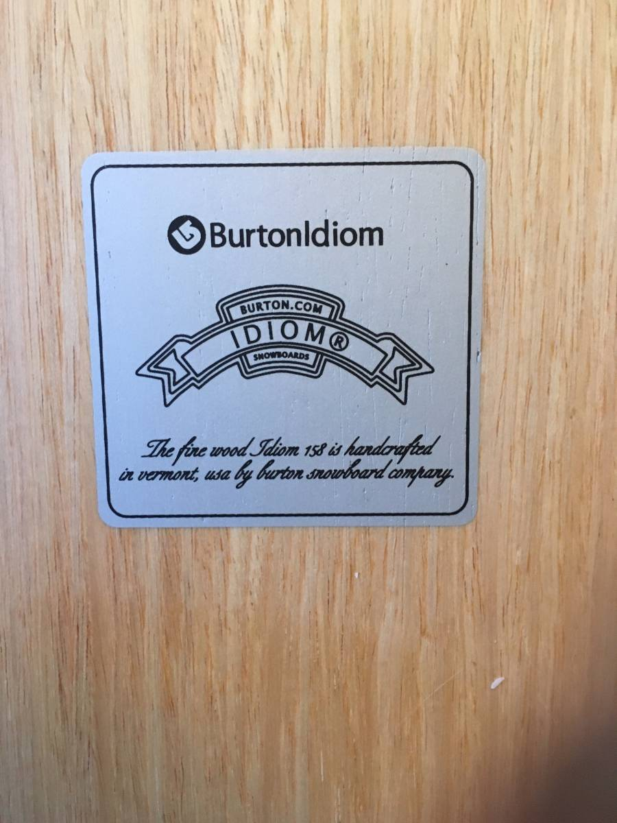 BURTON IDIOM バートン イディオム 156センチ 中古 美品 レア_画像4