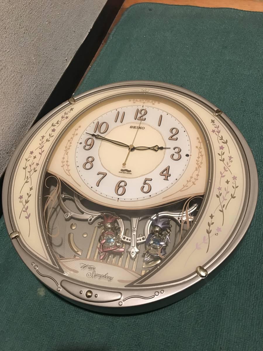 SEIKO電波掛時計 ウエーブシンフォニー ツイン・パ AM226G セイコー 6曲メロディ