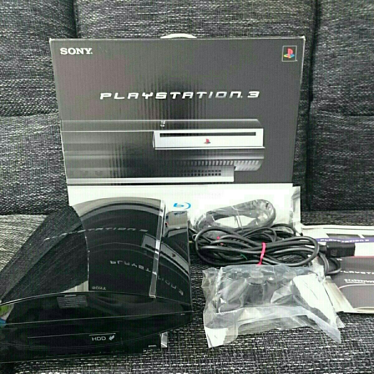 【動作確認済】初期型 PS3 プレイステーション 60G 付属品完備 FW4.78 CECHA00