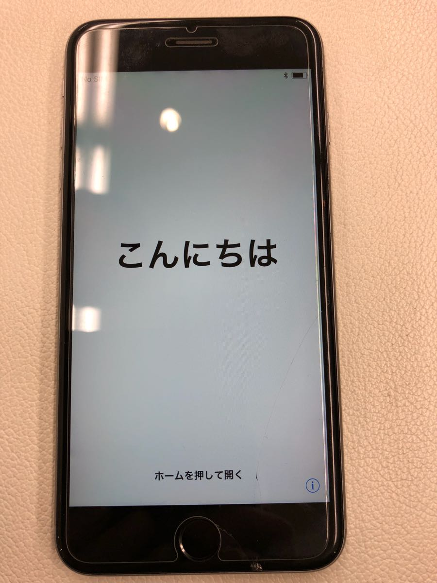 Apple iPhone 6sPlus 画面割れ有り スペースグレイ SIMフリー化 判定◯64GB used