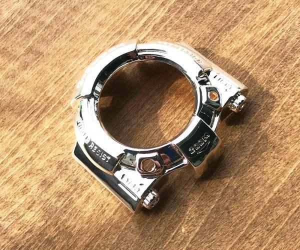 【1円スタート】G-shock DW-6300 フロッグマン 専用 メタル シルバー ベゼル 送料無料