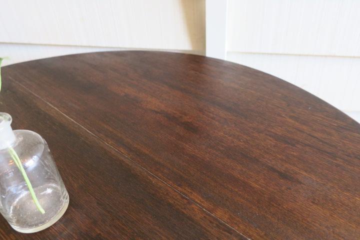 上質♪美しい木目♪古い木味 栓 無垢材 Φ900 大きな アンティーク折り脚テーブル/丸ちゃぶ台☆座卓 時代 卓袱台 花台 机 古家具_画像6