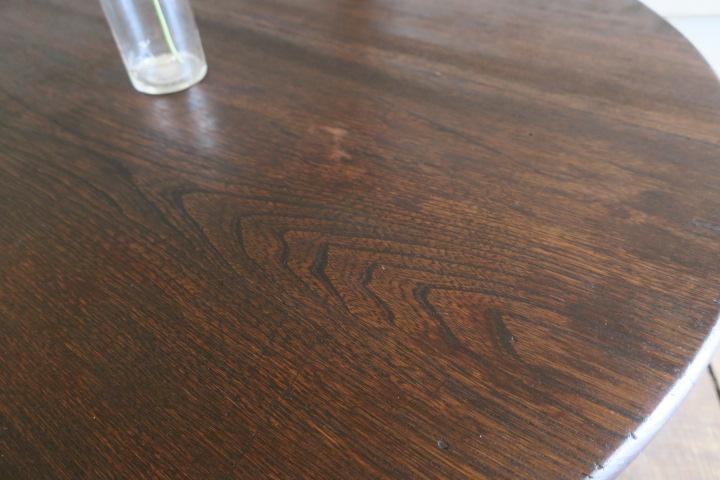 上質♪美しい木目♪古い木味 栓 無垢材 Φ900 大きな アンティーク折り脚テーブル/丸ちゃぶ台☆座卓 時代 卓袱台 花台 机 古家具_画像3