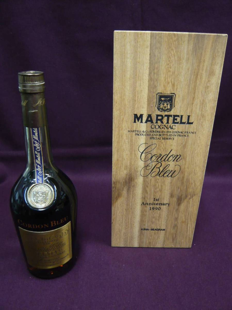 【未開栓】MARTELL マーテル CORDON BLEU コルドンブルー 1stアニバーサリー 1990 ブランデー 700ml 40%