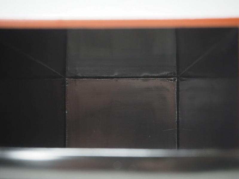 T801438 【 黒塗 桶型 花瓶 2個 セット 時代箱付 】 検) 茶道具 華道具 木製 漆器 花器 花入 花生 手桶 手付 提梁 手提 古玩 a08ⅲ*_画像8