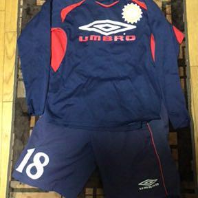 選手支給品 ギラヴァンツ北九州 実使用 プラクティスシャツ 上下セット 練習着 アンブロ トレーニングシャツ