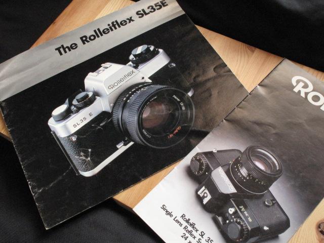 コンタックス、ライカL、コニカヘキサ―好きに★Rollei 「ローライSL35E : カタログとミニパンフ」~良品