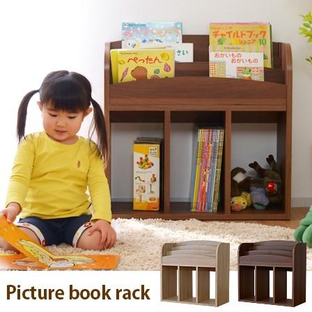 ■大人気!絵本棚 本棚 キッズ 絵本収納 おもちゃ収納 絵本ラック 3段 おもちゃ箱■
