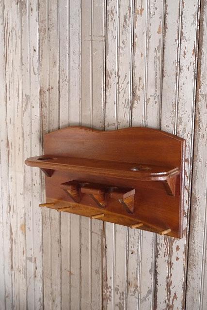 アンティークウッドウォールディスプレイラックディスプレイアメリカUSAキッチンアクセサリー木製陳列台カウンターブックケースビンテージ