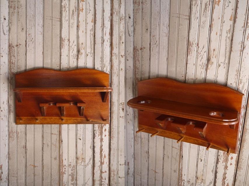 アンティークウッドウォールディスプレイラックディスプレイアメリカUSAキッチンアクセサリー木製陳列台カウンターブックケースビンテージ_画像2