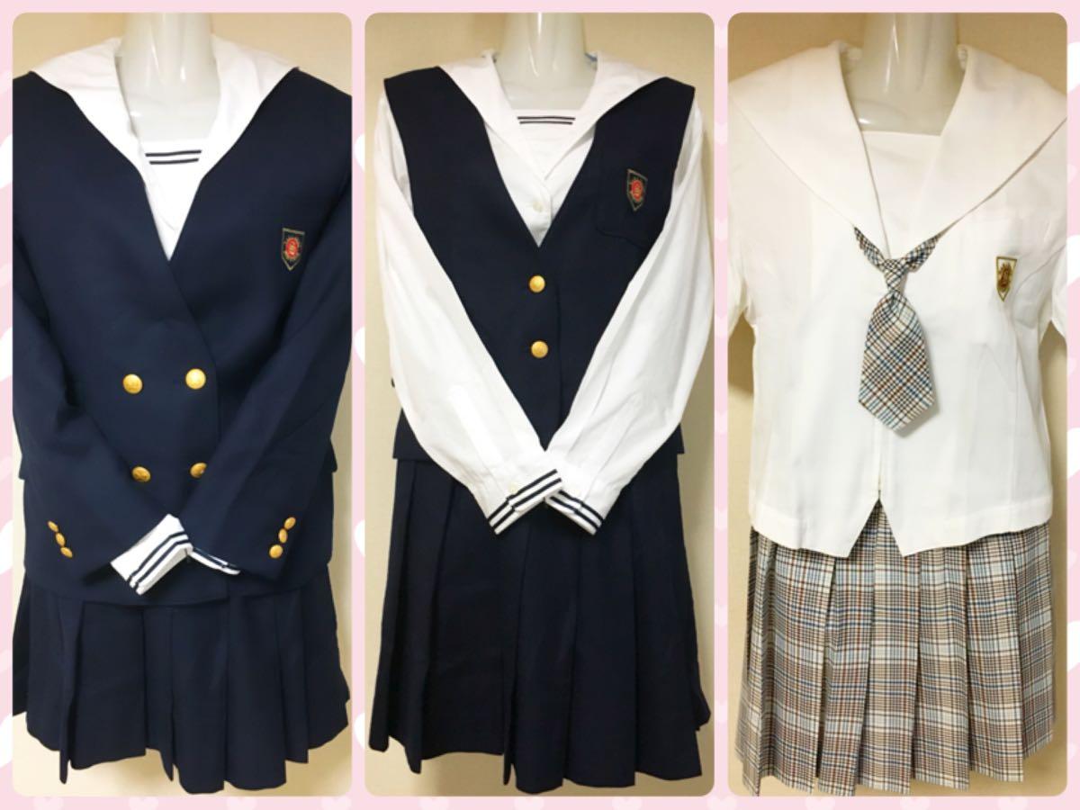 奈良女子高校の女子制服・セーラー服 冬中間夏服セット ハナエモリ (旧)