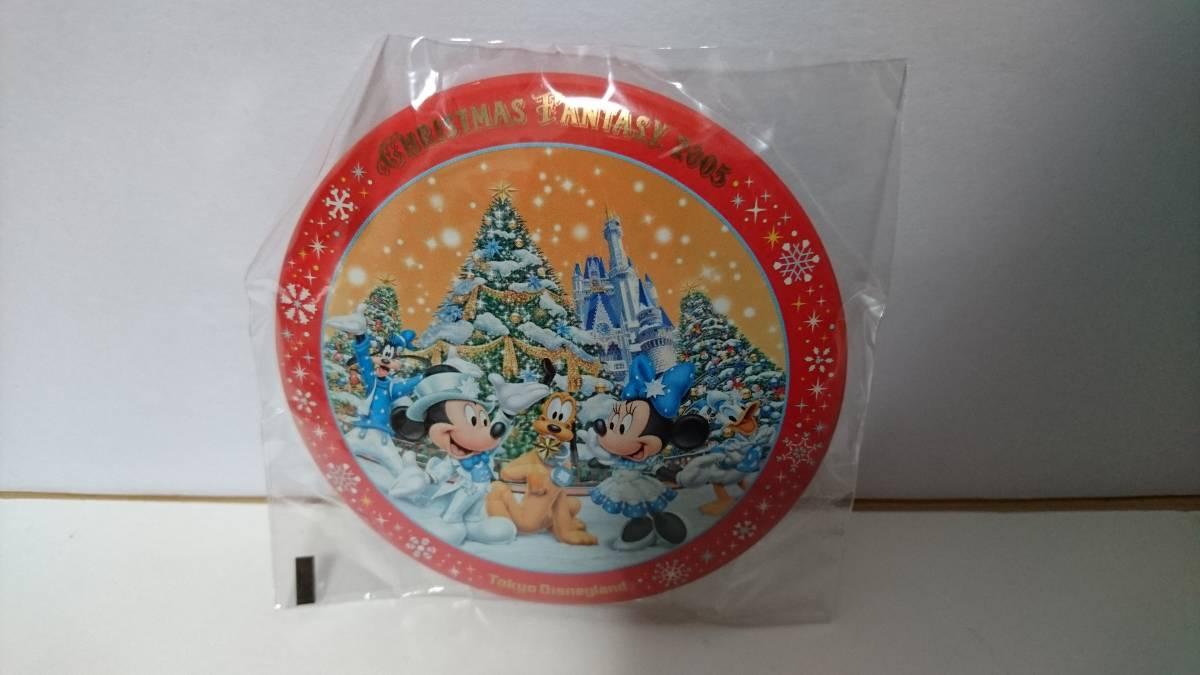 東京ディズニーランド缶バッジ クリスマスの値段と価格推移は?|4件の