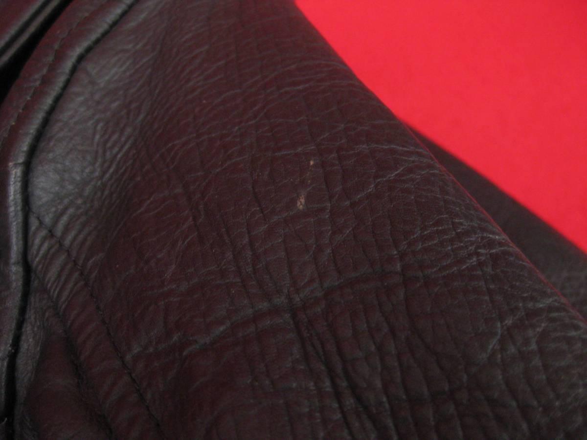 【ハッピー】BLL ライダースジャケット サイズ40 RICH LEATHER COW HIDE_画像6
