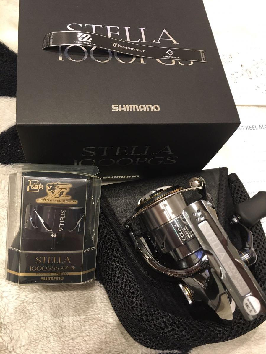シマノ SHIMANO 14 ステラ 1000PGS 1回使用 美品! 夢屋スプール付 1000SSS 大人気!!_画像2