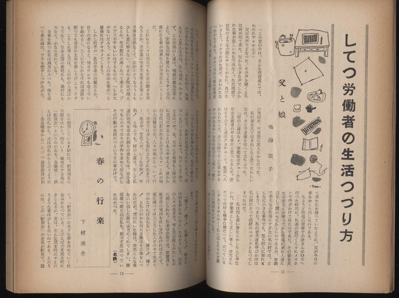 私鉄文化 私鉄総連教宣部 1956冬   :鉄道 労働運動 労組_画像3