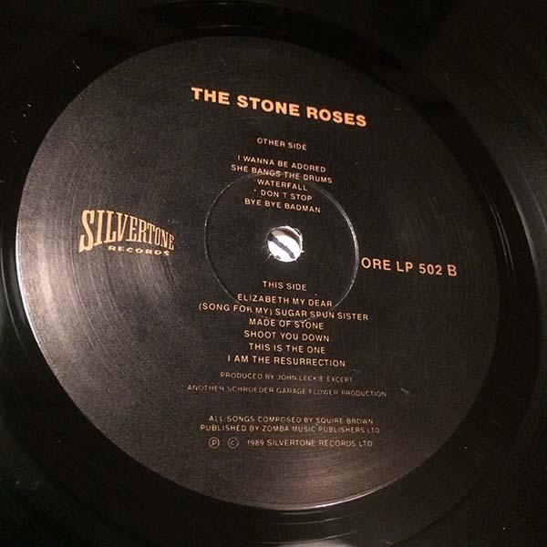 ●STONE ROSES 最初期エンボス加工ジャケ 89年 英国オリジナル ORE-LP-502_画像9