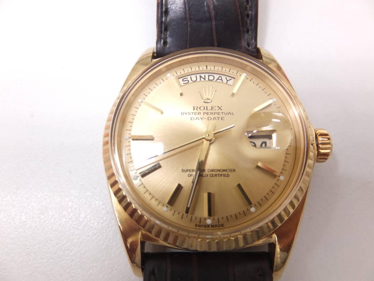 ROLEX(ロレックス) 腕時計 デイデイト 1803 2番台 メンズ k18 750 OH済全て純正 風防に埃級の線キズ有 美品