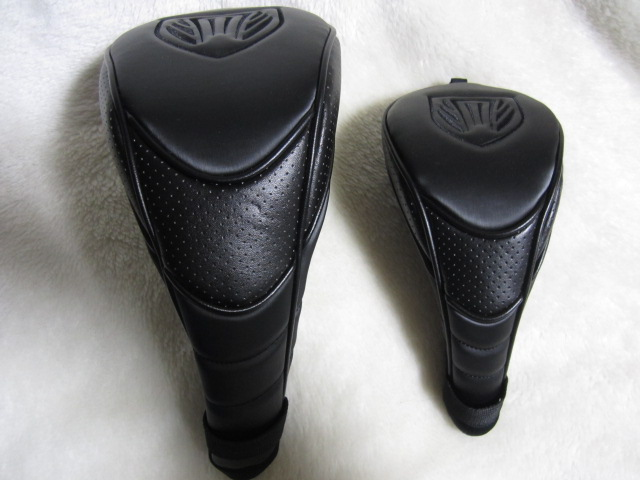 【送料無料】ドライバー&フェアウェイ用 ヘッドカバー 各1個(計2個) 黒 中古