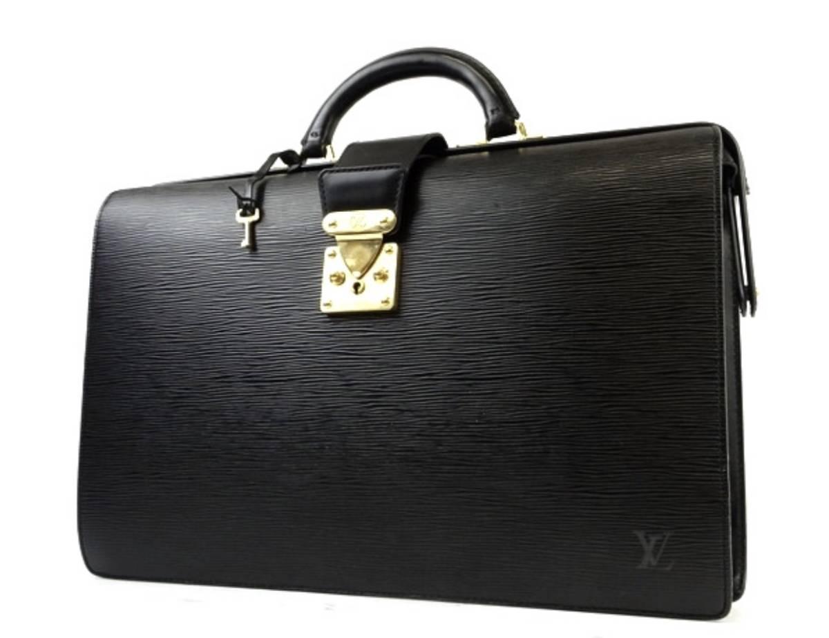 【中古美品】【送料無料】LOUIS VUITTON ルイヴィトン エピ セルヴィエット フェルモワール M54352 メンズ ビジネスバッグ
