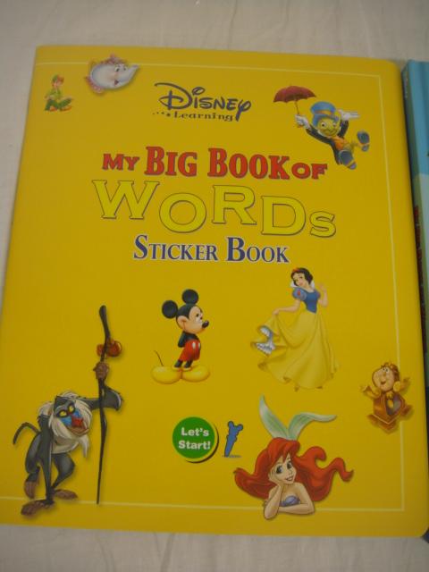 ★新品★DWE ディズニー英語システム ワールドファミリー MY BIG BOOK OF WORDS ステッカーブック 英会話 幼児英語 №17_画像3