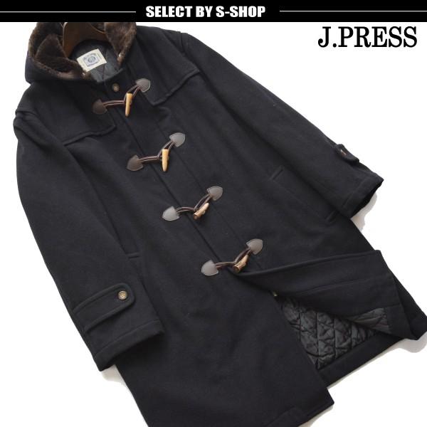 ■ジェイプレス(j.PRESS)■超美品 日本製 ロングダッフル中綿コート 紺 L