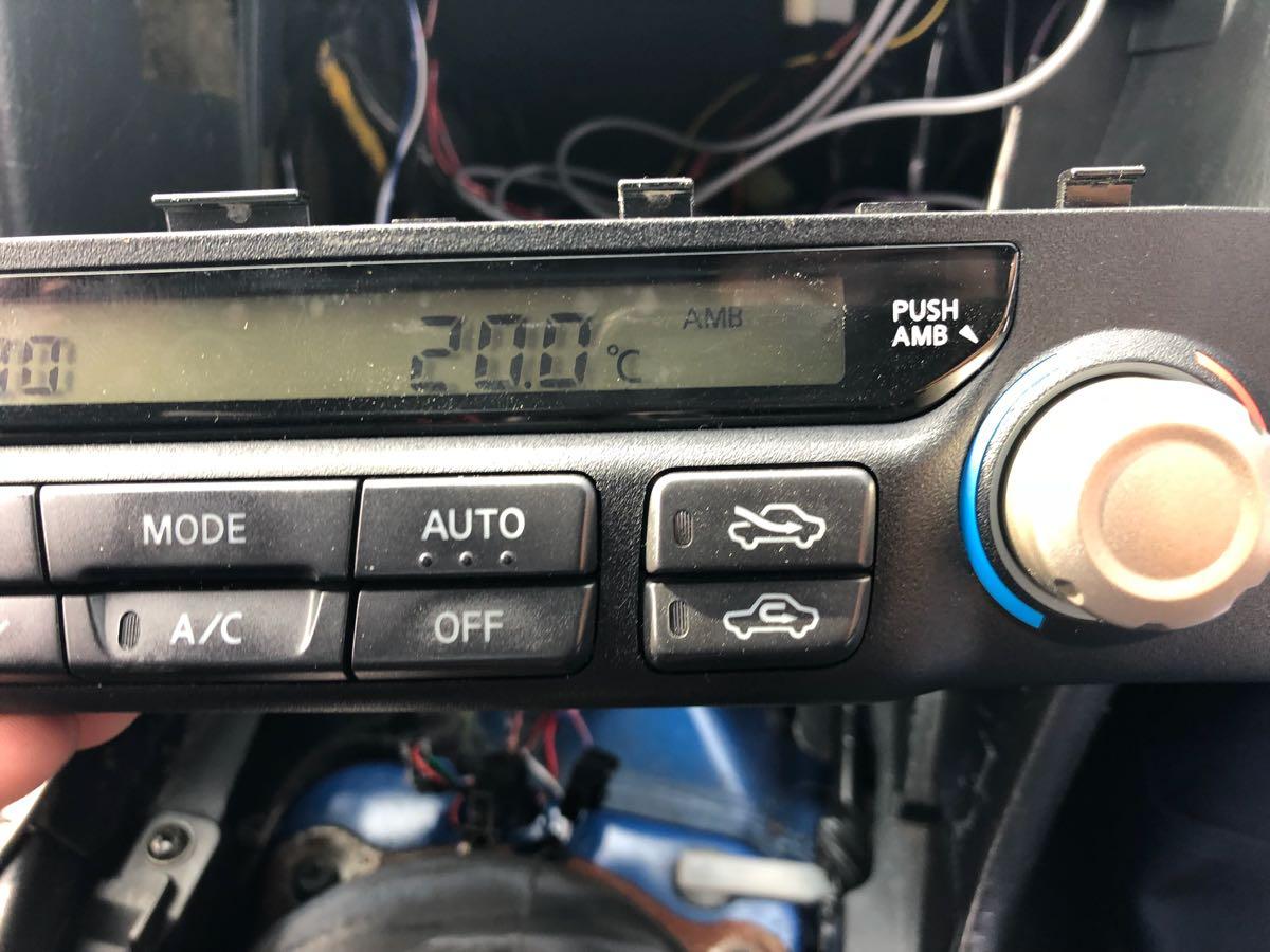 BNR34 R34 ER34 HR34 エアコンユニット 気温計付_画像7