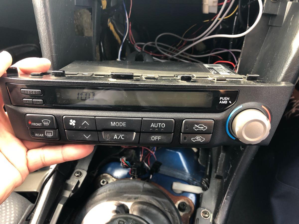 BNR34 R34 ER34 HR34 エアコンユニット 気温計付_画像6