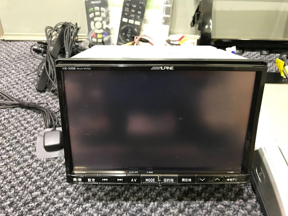 アルパイン ビックX8インチナビ VIE-008 10.2インチフリップダウンモニター PCX-R3500 1台セット 50エスティマに使用してました 取説有_画像2