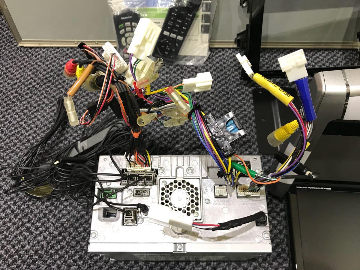 アルパイン ビックX8インチナビ VIE-008 10.2インチフリップダウンモニター PCX-R3500 1台セット 50エスティマに使用してました 取説有_画像5