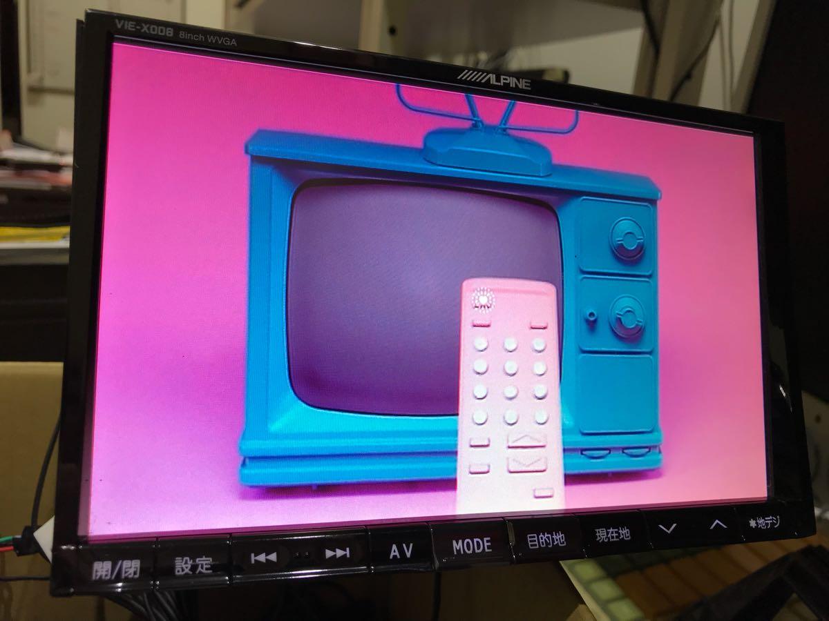 アルパイン ビックX8インチナビ VIE-008 10.2インチフリップダウンモニター PCX-R3500 1台セット 50エスティマに使用してました 取説有_画像7