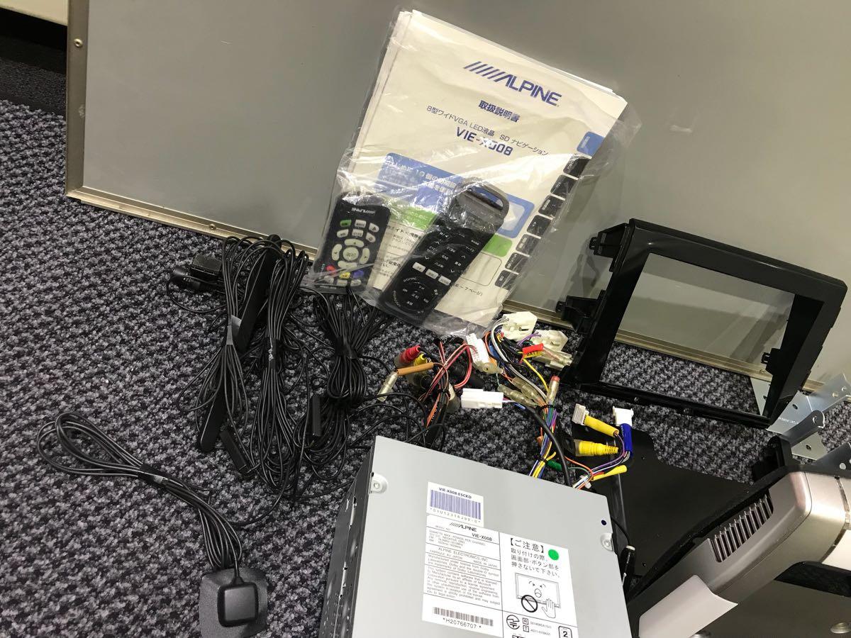 アルパイン ビックX8インチナビ VIE-008 10.2インチフリップダウンモニター PCX-R3500 1台セット 50エスティマに使用してました 取説有_画像4