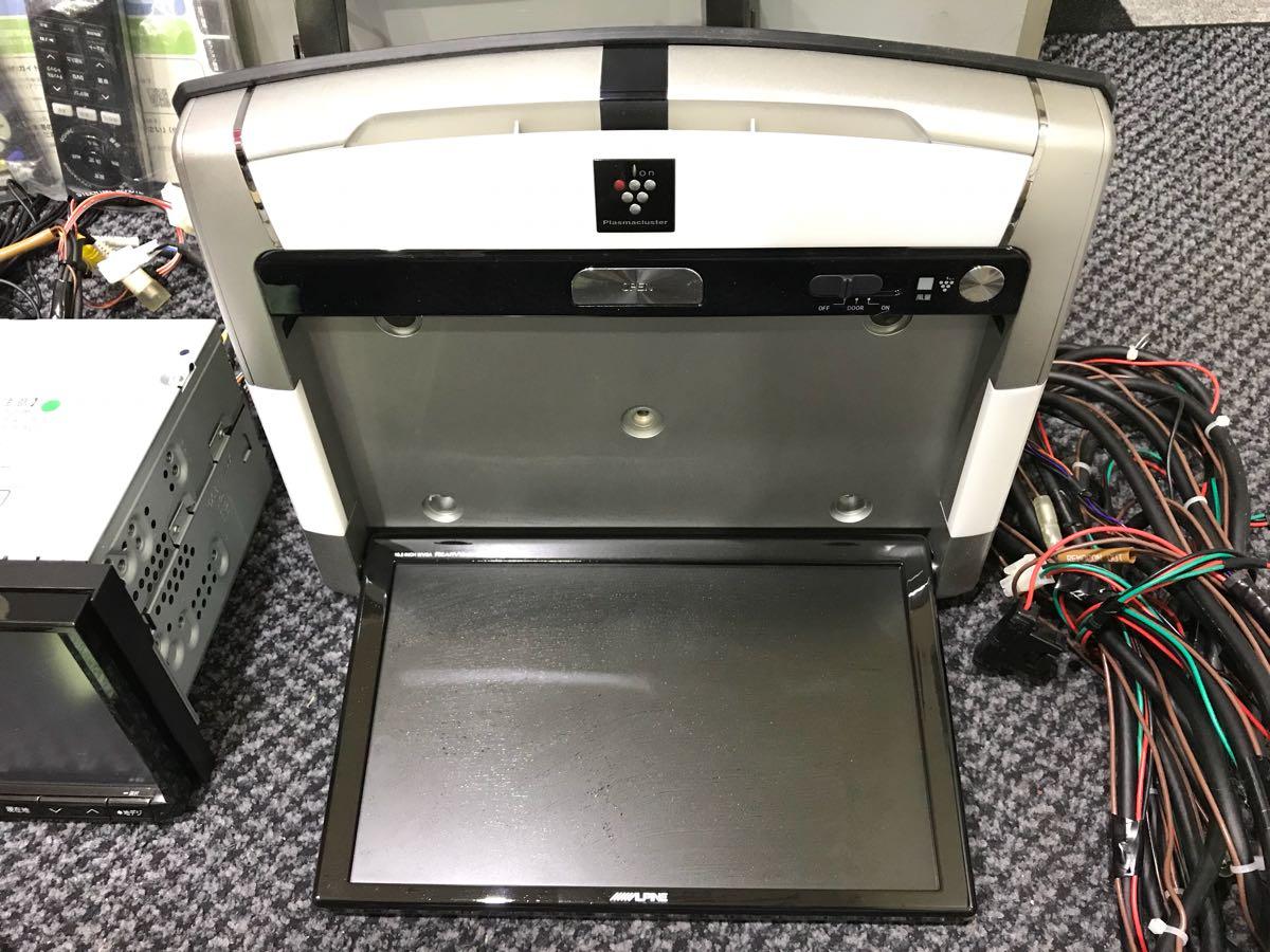 アルパイン ビックX8インチナビ VIE-008 10.2インチフリップダウンモニター PCX-R3500 1台セット 50エスティマに使用してました 取説有_画像3