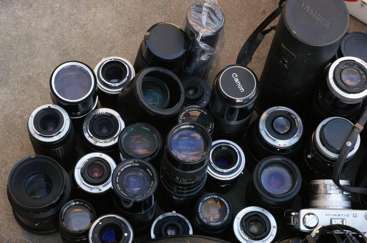 レンズ付き一眼23台山盛り完全ジャンクセット_画像2
