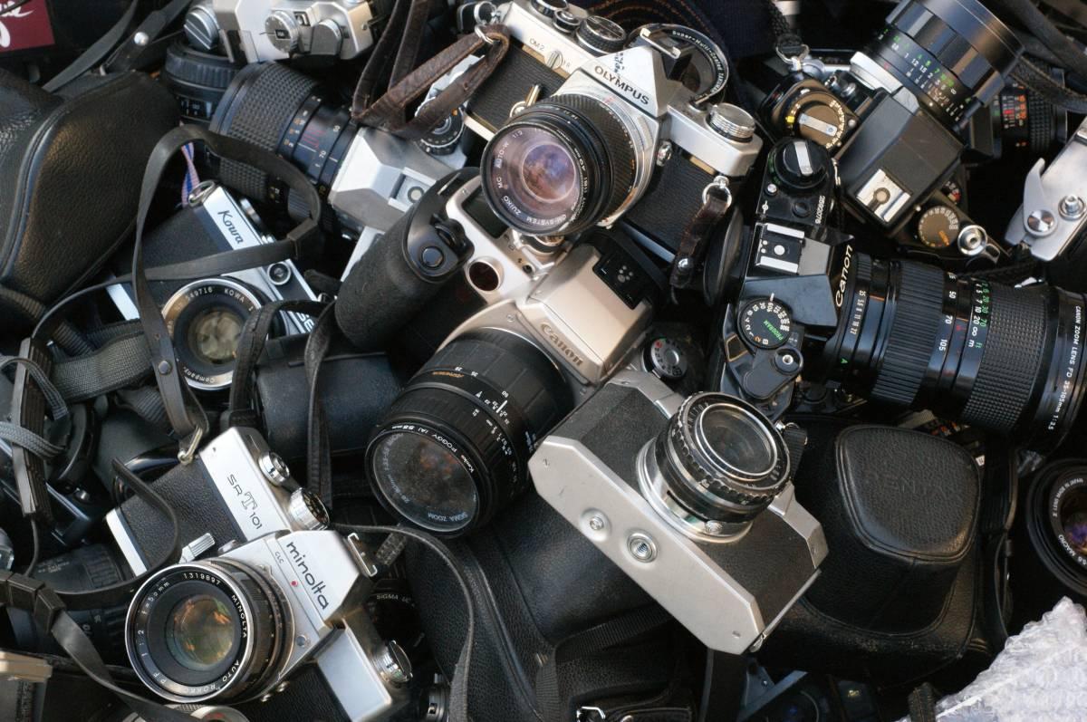 レンズ付き一眼23台山盛り完全ジャンクセット_画像6