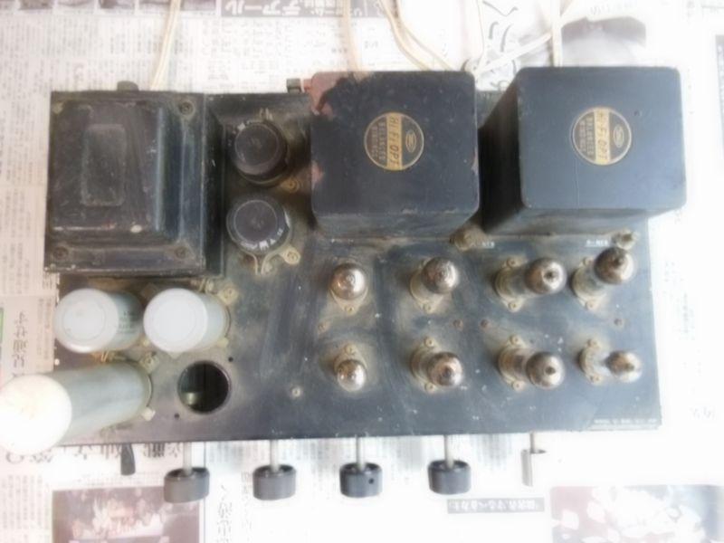 自作真空管アンプ 組立中断未完成品 ジャンク 部品取り 約40年前