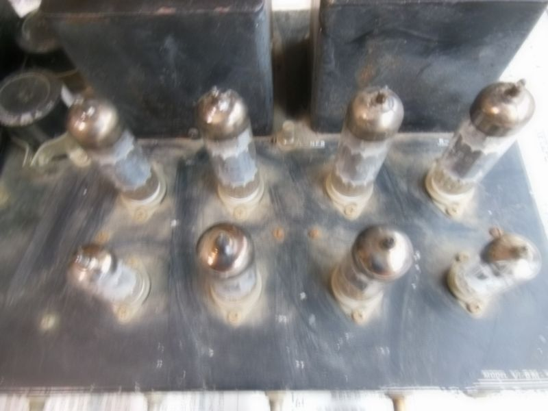 自作真空管アンプ 組立中断未完成品 ジャンク 部品取り 約40年前_画像4