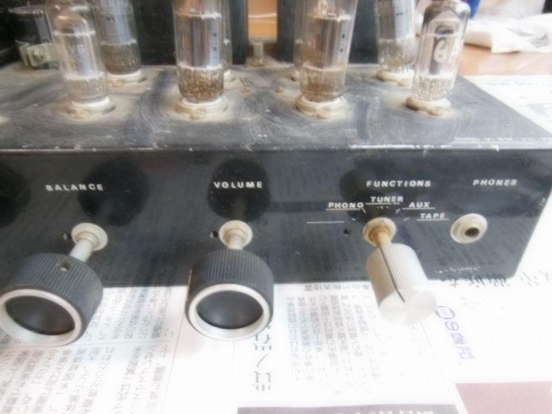 自作真空管アンプ 組立中断未完成品 ジャンク 部品取り 約40年前_画像3