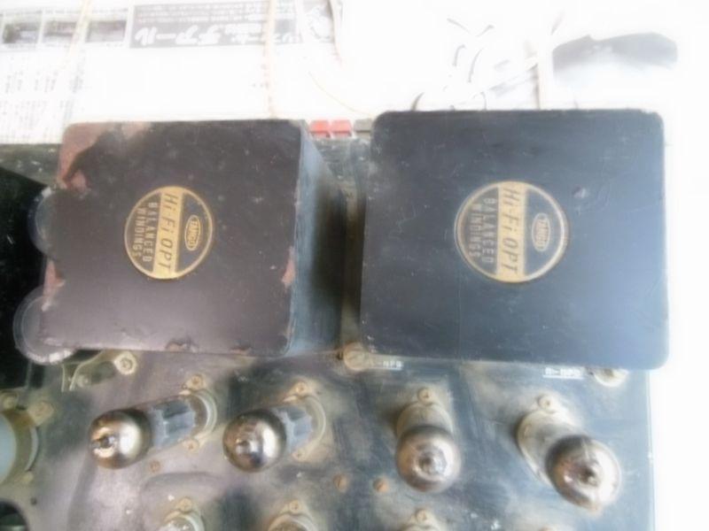自作真空管アンプ 組立中断未完成品 ジャンク 部品取り 約40年前_画像5