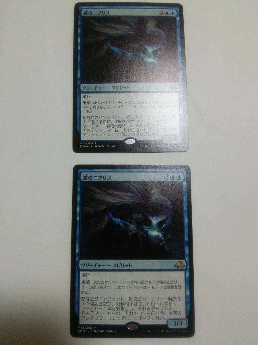 MTG マジックザギャザリング 霜のニブリス 日本語版 2枚セット_画像1