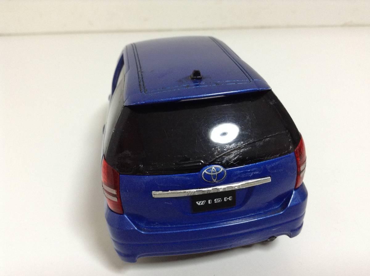 トヨタ 初代 ウィッシュ10 2.0G 1.8X Sパッケージ 前期型 2003年式~ 1/24 約19cm カラーサンプル 色見本 ミニカー 非売品 青M 送料¥500_画像4