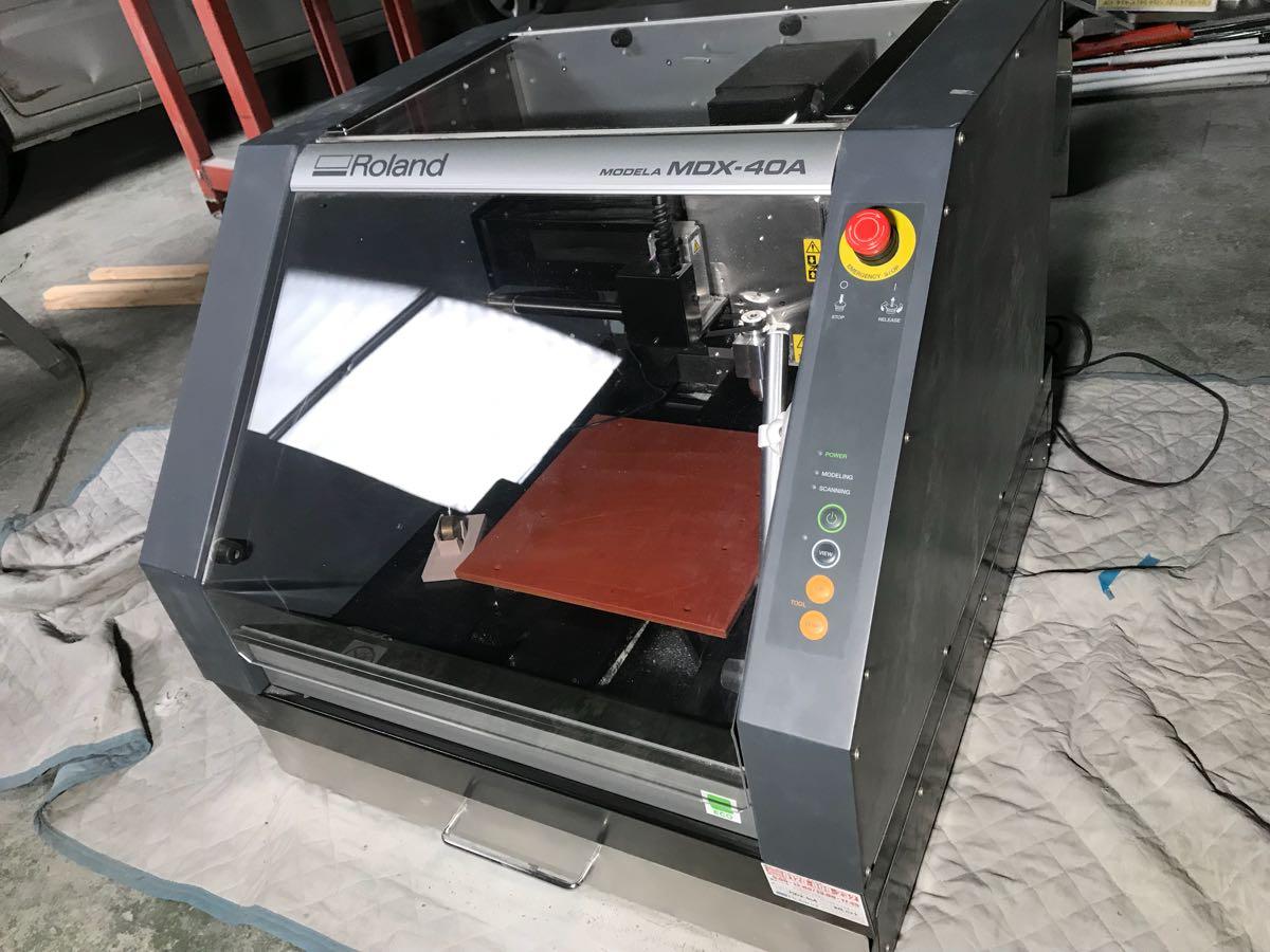 ローランド Roland MDX-40A ZCL-40A ZSC-1 3D切削機 3Dモデリングマシーン 3D彫刻機