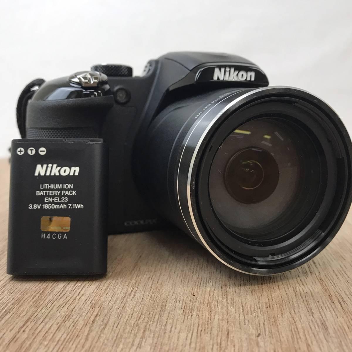 ★☆C0116b04 ニコン Nikon COOLPIX P600 ブラック 4.3-258mm 1:3.3-6.5 デジカメ コンパクトデジタル☆★