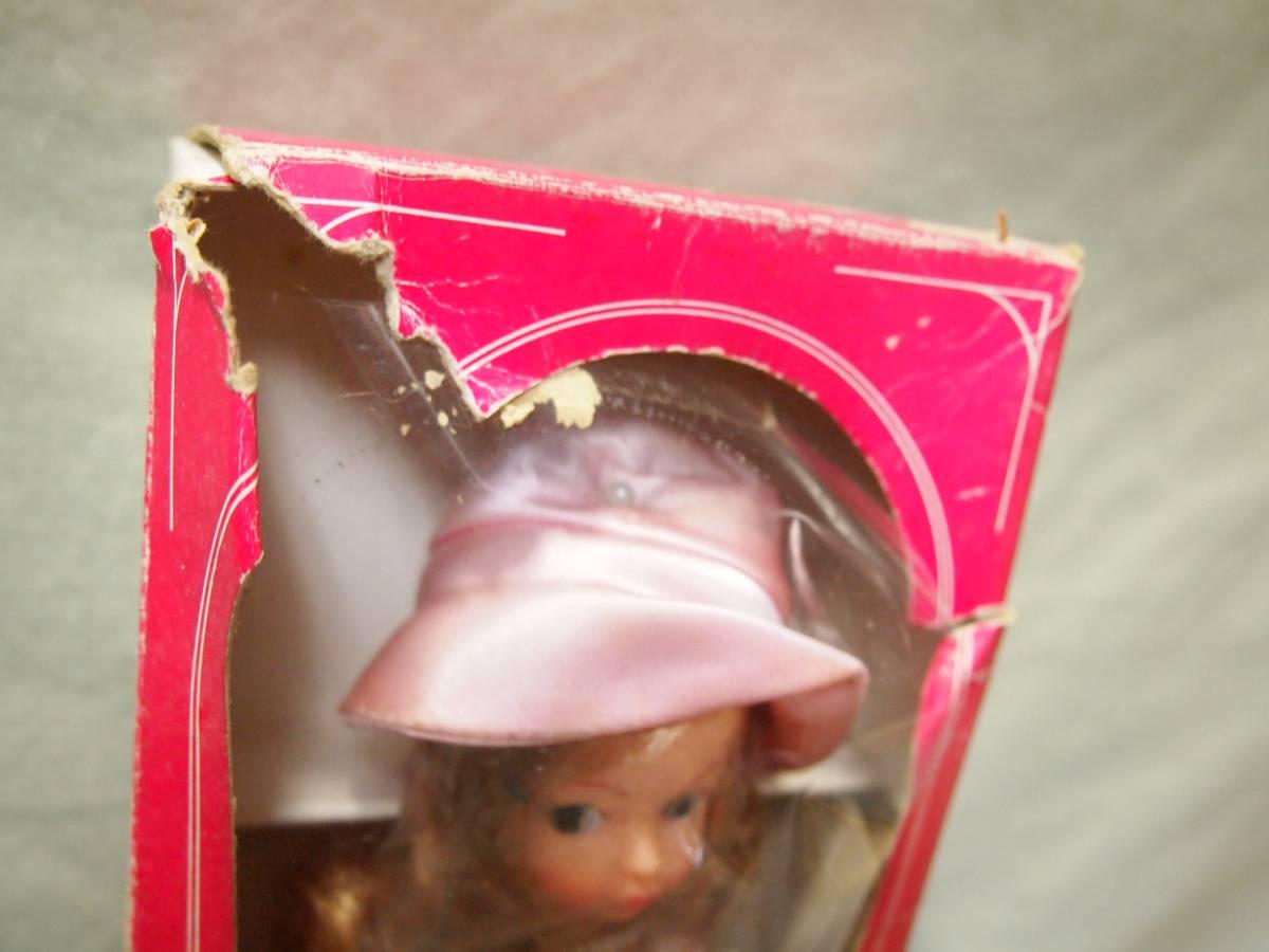 1970年代デットストック品 箱破損あり中嶋製作所ナカジマ スカーレットちゃん レコード・スタンド・カタログつき着せ替え人形(リカ昭和_画像3
