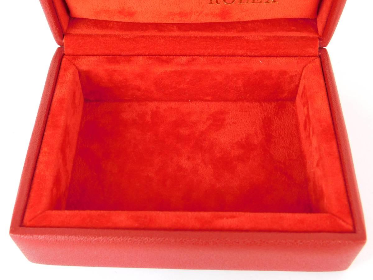 正規品 MONTRES ROLEX S.A. ロレックス ウォッチケース 収納ケース ボックス 化粧箱 空箱 赤_画像6
