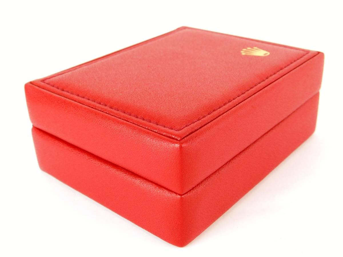 正規品 MONTRES ROLEX S.A. ロレックス ウォッチケース 収納ケース ボックス 化粧箱 空箱 赤_画像7