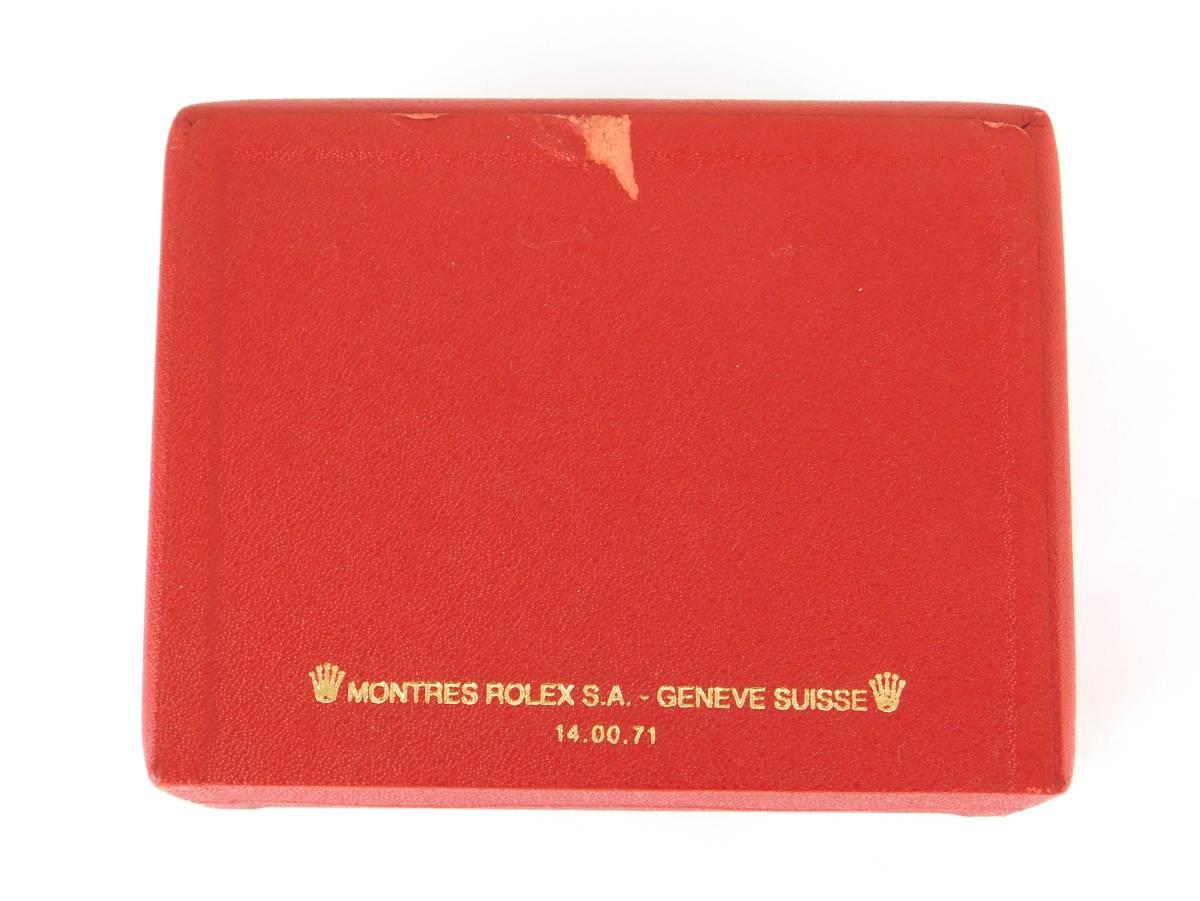 正規品 MONTRES ROLEX S.A. ロレックス ウォッチケース 収納ケース ボックス 化粧箱 空箱 赤_画像3