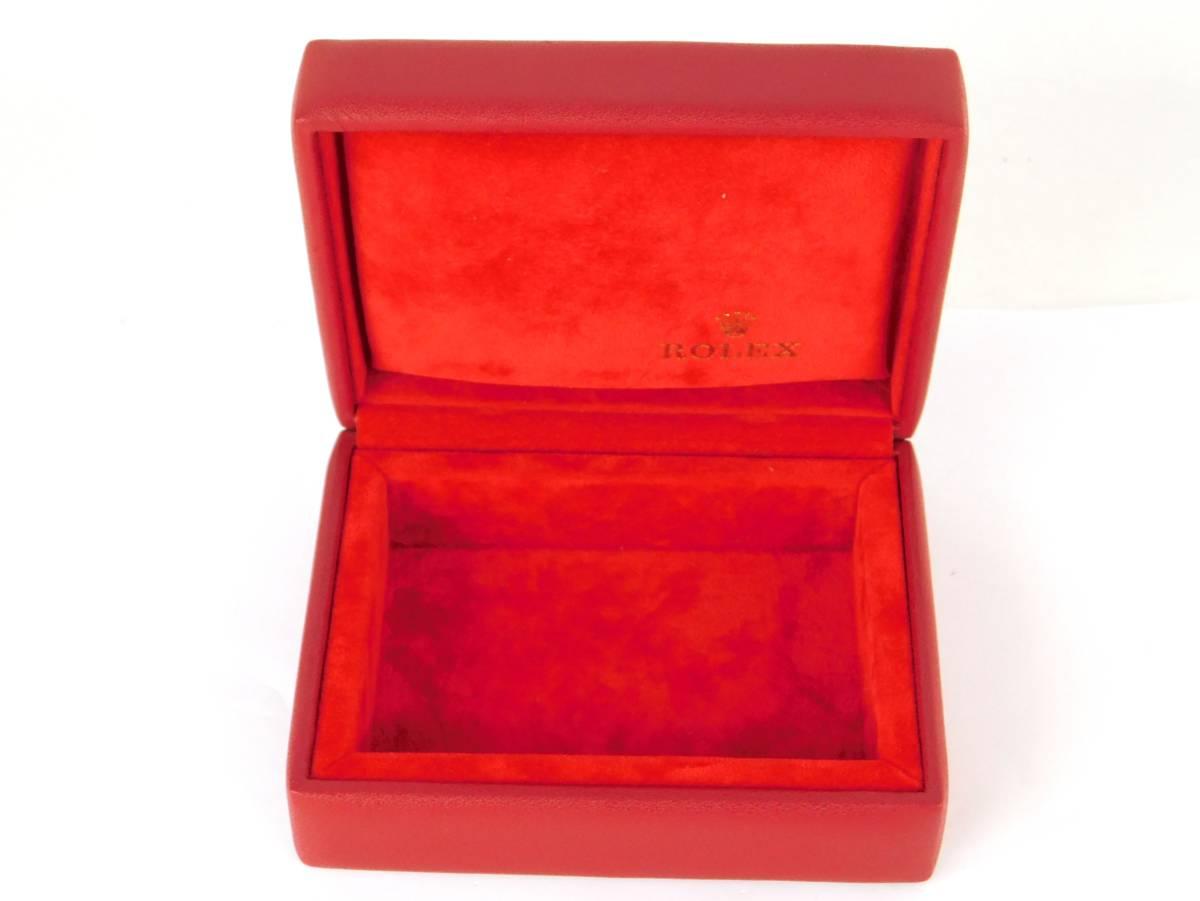 正規品 MONTRES ROLEX S.A. ロレックス ウォッチケース 収納ケース ボックス 化粧箱 空箱 赤_画像4
