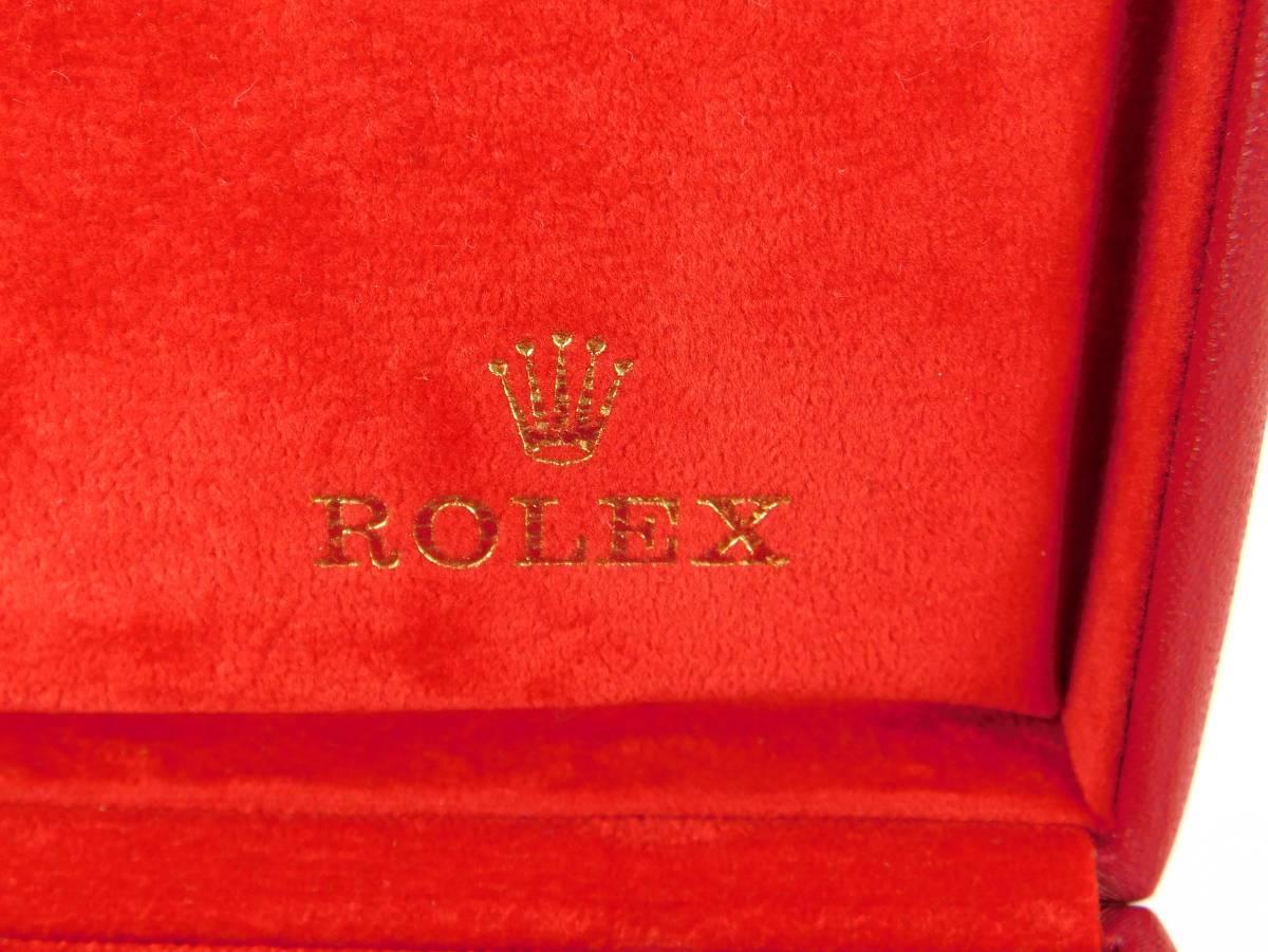正規品 MONTRES ROLEX S.A. ロレックス ウォッチケース 収納ケース ボックス 化粧箱 空箱 赤_画像5