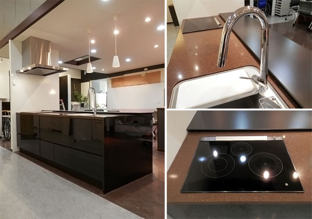 展示品 タカラスタンダート 最高品質システムキッチン アイランド仕様バックカウンター付